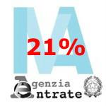 Nuova aliquota ordinaria IVA al 21%.